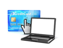 Online money transfer - concept illustration Royalty Free Stock Images