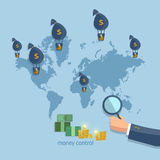 Online money transfer transactions concept Royalty Free Stock Photos