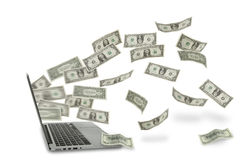 Online Money Royalty Free Stock Photos