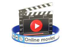 Online movies concept, 3D Stock Image