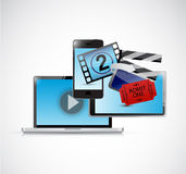 Online movies concept illustration design Royalty Free Stock Images