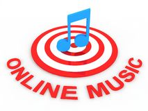Online music Royalty Free Stock Photo