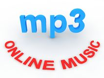 Online music Royalty Free Stock Images