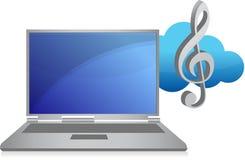 Online music concept illustration vector illustration