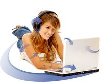 Online music  Downloads Royalty Free Stock Photo
