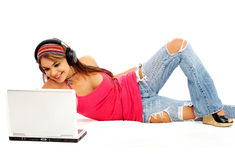 Online music downloads Royalty Free Stock Image
