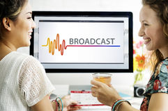 Online Music Multimedia Entertainment Sounds Concept Stock Photos