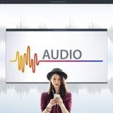 Online Music Multimedia Entertainment Sounds Concept Stock Photography