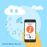 Online music service Royalty Free Stock Photography
