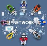 Online-nätverk som delar WWW systembegrepp Royaltyfri Foto