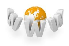 Online netwerk royalty-vrije illustratie