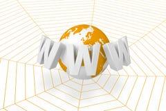Online netwerk stock illustratie