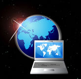 Online Network Communications Laptops Royalty Free Stock Image