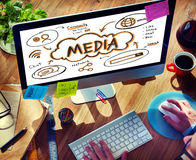 Online Network Connect Global Sharing Media Concept Stock Images