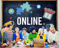 Online Network Connecting Community Internet Concept Stock Photo