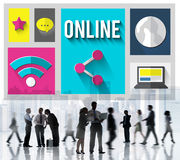 Online Network Connection Connnecting Internet Concept Royalty Free Stock Images