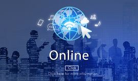 Online Network Internet Connection Digital Concept Royalty Free Stock Photos
