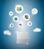Online network settings illustration design Royalty Free Stock Photo
