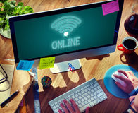 Online Network Wifi COmmunication Icon Concept Royalty Free Stock Photography