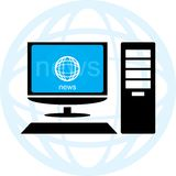 Online news. Illustration of online news, no gradients used Stock Photography