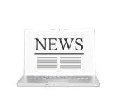 Online news Stock Image