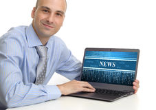 Online news Royalty Free Stock Photography
