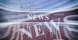 Online news concept Royalty Free Stock Photography