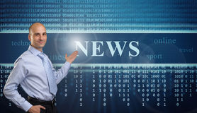 Online news concept Royalty Free Stock Photo