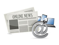 Online news and electronic tools Stock Image