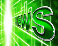 Online News Represents World Wide Web And Article Stock Photo
