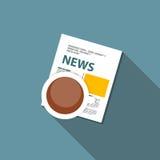 Online News Vector Illustration. Flat Computing Royalty Free Stock Image