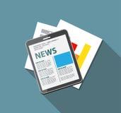Online News Vector Illustration. Flat Computing Royalty Free Stock Photography