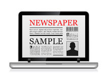 Online newspaper Stock Image