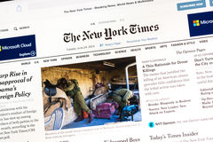 Online Newspaper Edition Stock Images