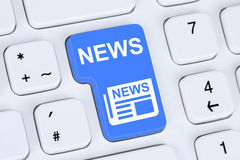 Online newspaper news on computer Royalty Free Stock Photo