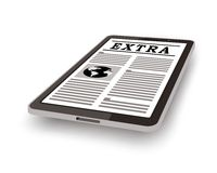 Online newspaper on tablet pc Royalty Free Stock Images