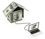 Online nieruchomość Zdjęcie Stock