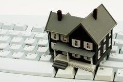 online nieruchomość real Zdjęcia Stock