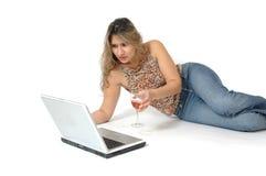 Online Nieuws Stock Foto