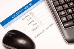Online obsługa klienta satysfakci ankieta Obraz Stock