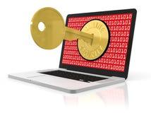 Online ochrona Obrazy Stock