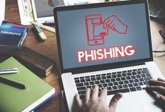 Online ochrony Cyber ataka grafiki pojęcie Obraz Royalty Free