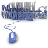Online oferta Royalty-vrije Stock Foto