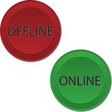 Online Offline buttons Royalty Free Stock Images
