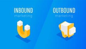 Online onderbreking en toestemmings marketing vector illustratie