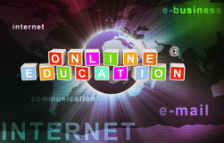 Online onderwijs Stock Foto