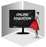 Online onderwijs Stock Foto's