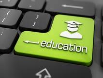 Online onderwijs of e-het leren concept Stock Afbeelding