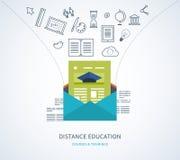 Online onderwijs en cursussen vector illustratie