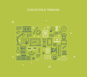 Online onderwijs en cursussen royalty-vrije illustratie